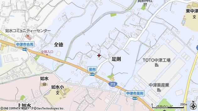 大分県中津市是則120周辺の地図