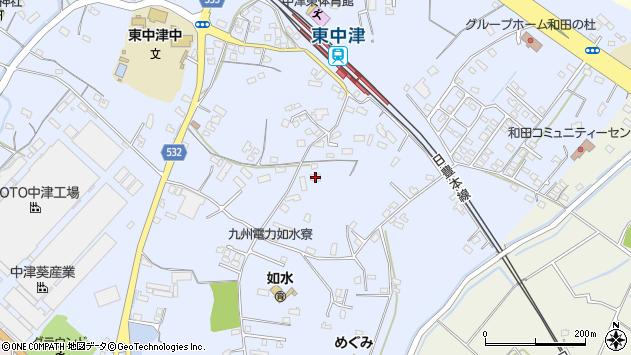 大分県中津市是則991周辺の地図