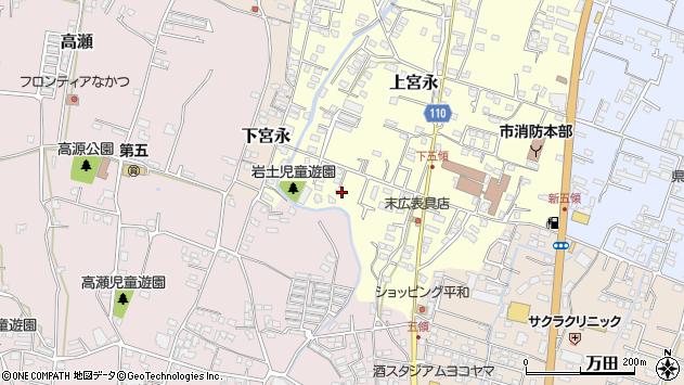 大分県中津市上宮永999周辺の地図