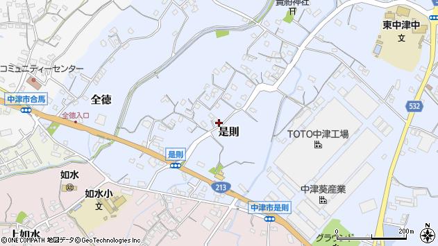 大分県中津市是則97周辺の地図