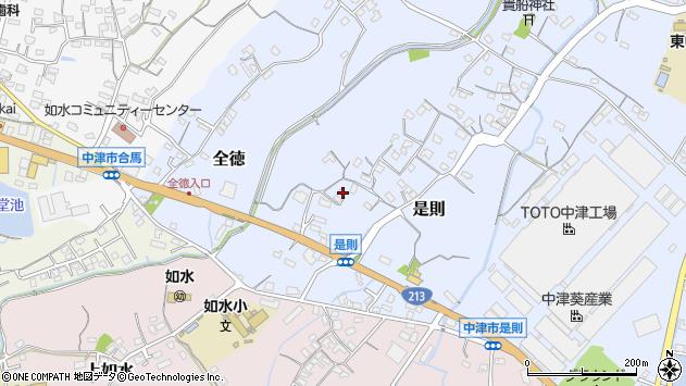 大分県中津市是則129周辺の地図