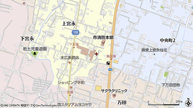 大分県中津市上宮永357周辺の地図