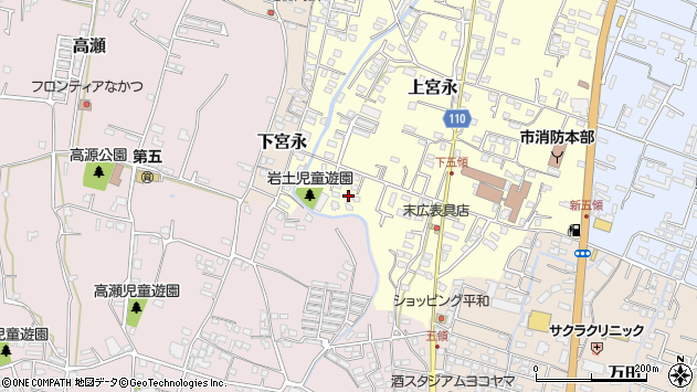 大分県中津市上宮永1002周辺の地図