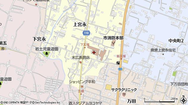 大分県中津市上宮永299周辺の地図