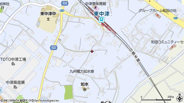 大分県中津市是則988周辺の地図