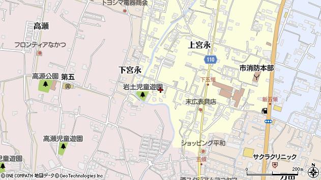 大分県中津市上宮永1011周辺の地図
