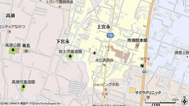 大分県中津市上宮永1033周辺の地図