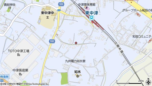 大分県中津市是則986周辺の地図