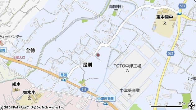 大分県中津市是則189周辺の地図