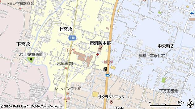 大分県中津市上宮永359周辺の地図