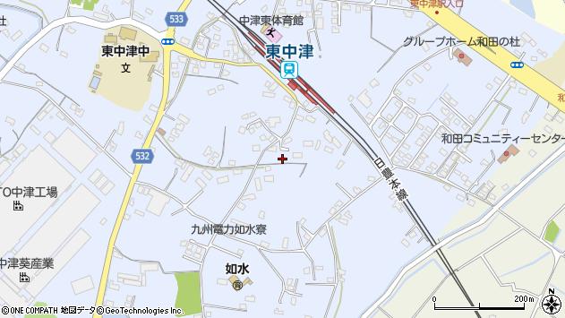 大分県中津市是則1278周辺の地図