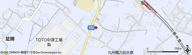 大分県中津市是則1037周辺の地図