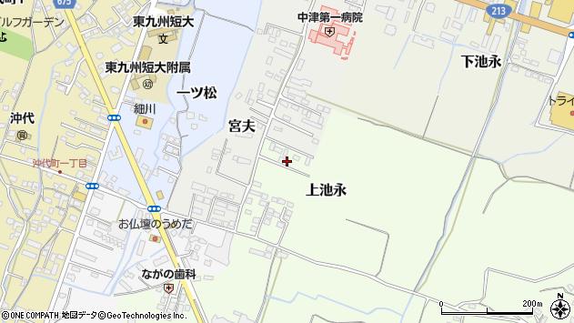 大分県中津市上池永1201周辺の地図