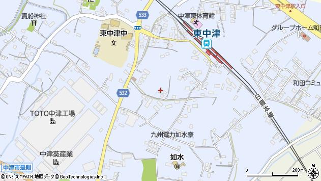 大分県中津市是則890周辺の地図