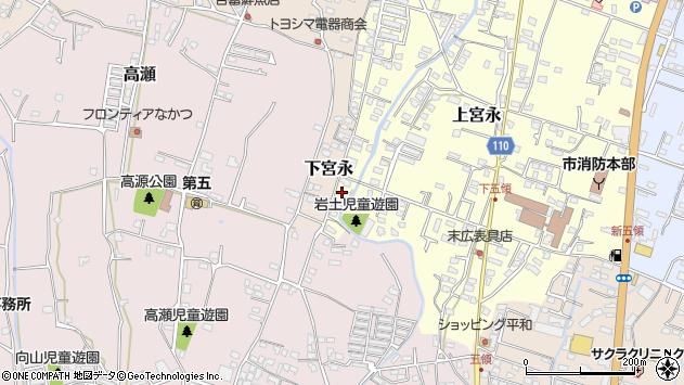 大分県中津市上宮永1295周辺の地図
