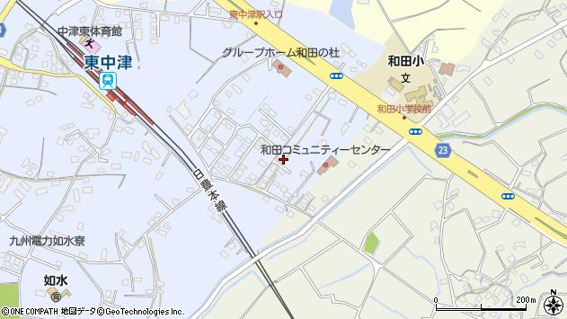 大分県中津市是則1393周辺の地図