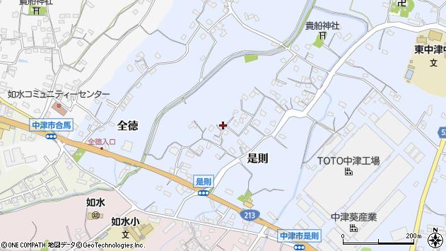 大分県中津市是則105周辺の地図
