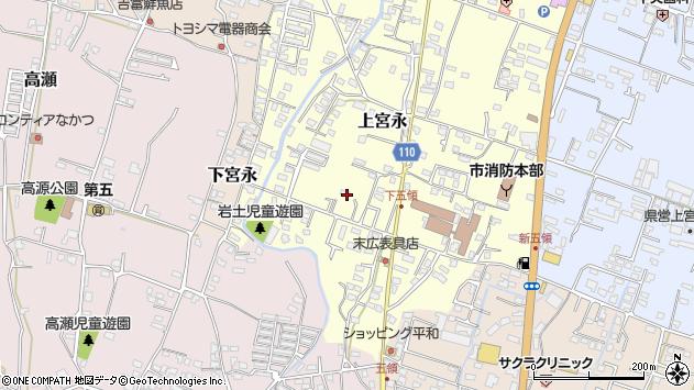 大分県中津市上宮永1032周辺の地図