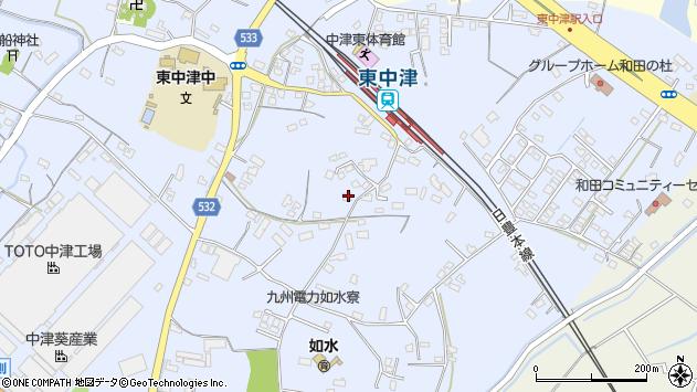 大分県中津市是則985周辺の地図