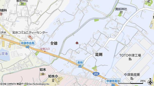大分県中津市是則29周辺の地図