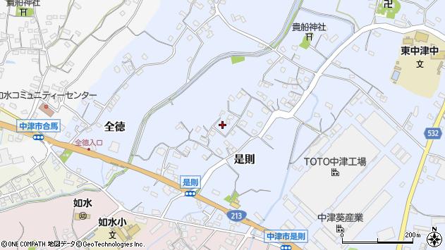 大分県中津市是則88周辺の地図