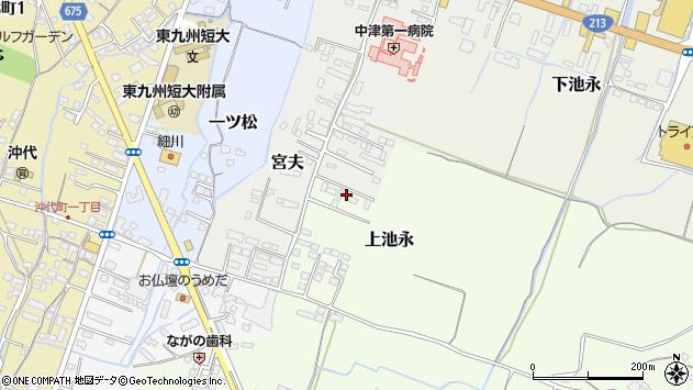 大分県中津市上池永1200周辺の地図