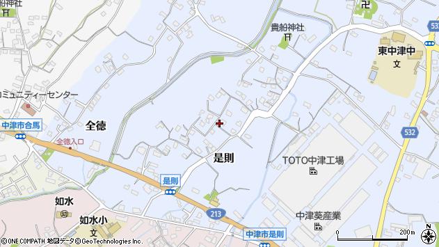 大分県中津市是則75周辺の地図