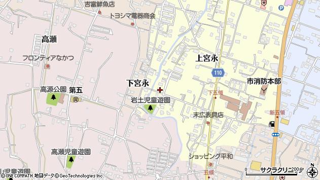 大分県中津市上宮永1010周辺の地図