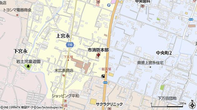 大分県中津市上宮永364周辺の地図
