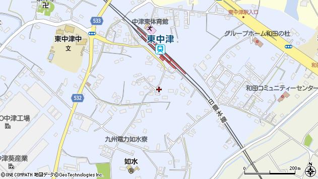 大分県中津市是則1280周辺の地図