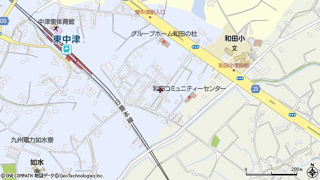 大分県中津市是則1392周辺の地図