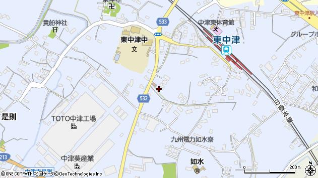 大分県中津市是則883周辺の地図