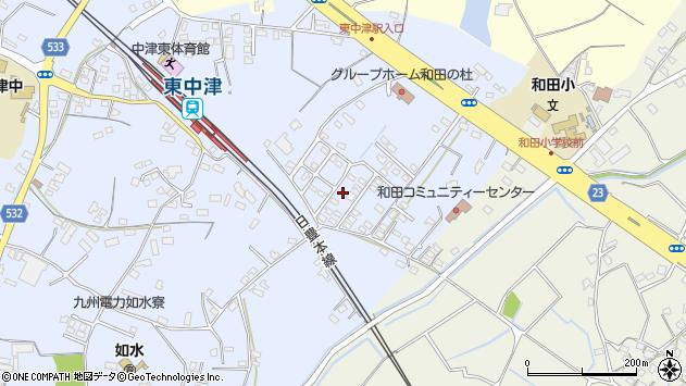 大分県中津市是則1378周辺の地図