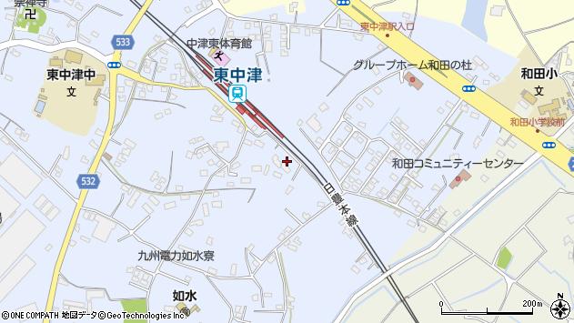 大分県中津市是則1295周辺の地図