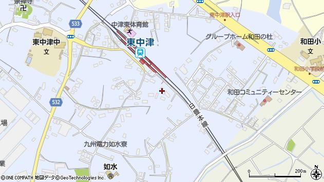 大分県中津市是則1292周辺の地図