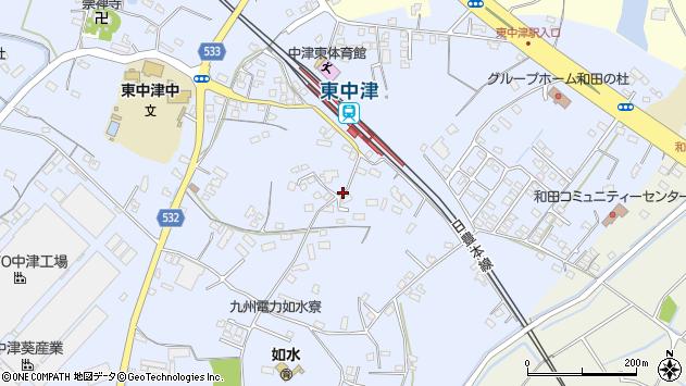 大分県中津市是則987周辺の地図