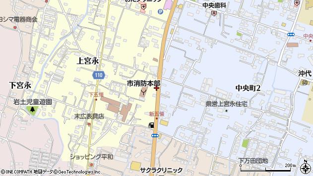 大分県中津市上宮永351周辺の地図