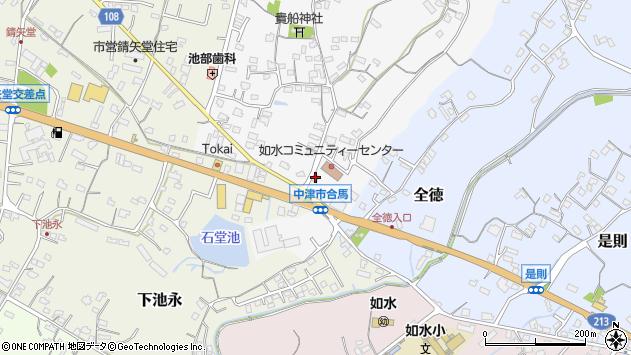 大分県中津市合馬479周辺の地図