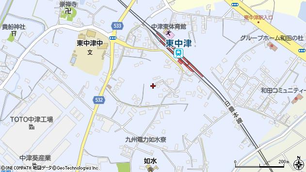 大分県中津市是則984周辺の地図