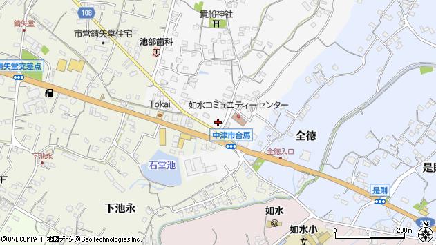 大分県中津市合馬473周辺の地図