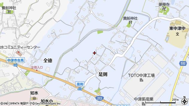 大分県中津市是則77周辺の地図