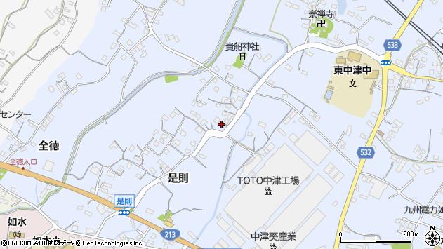 大分県中津市是則229周辺の地図