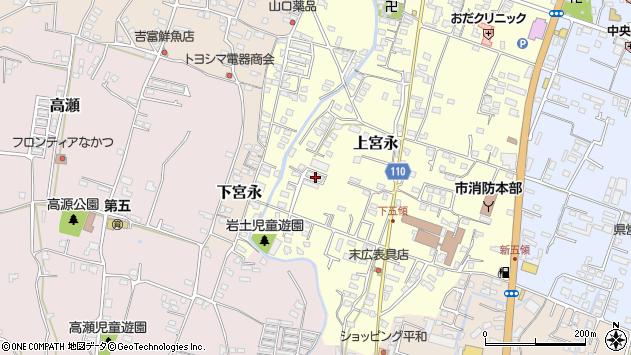 大分県中津市上宮永1013周辺の地図
