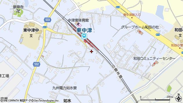 大分県中津市是則1308周辺の地図