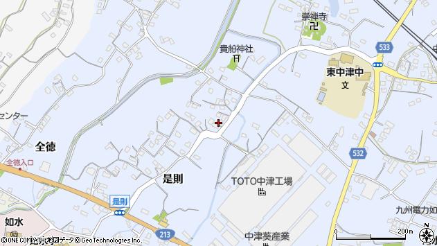大分県中津市是則231周辺の地図