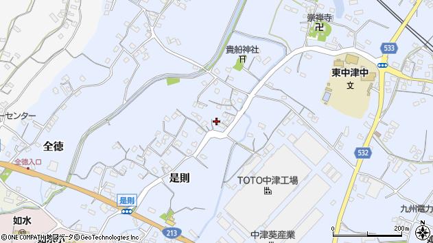 大分県中津市是則228周辺の地図