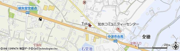 大分県中津市合馬461周辺の地図