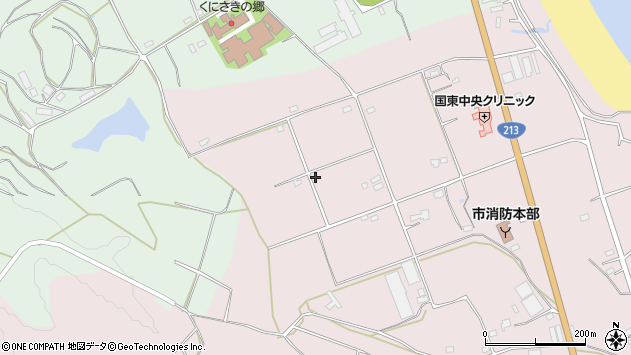 大分県国東市国東町北江3224周辺の地図
