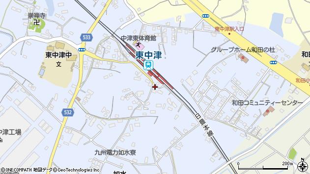 大分県中津市是則1311周辺の地図