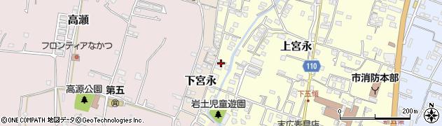 大分県中津市上宮永1289周辺の地図